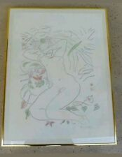 NUDE CRAYON AND PENCIL  DRAWING SIGNED HENRI MATISSE