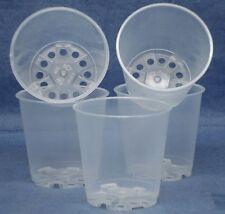 "Clear Plastic Teku Pot for Orchids 2 1/4"" Diameter - Quantity 5"