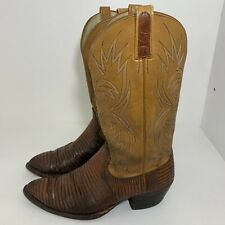 Vintage Cats Paw Mens Exotic Skin Cowboy Boots Size 10