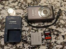 Canon PowerShot ELPH 100HS 12.1MP Digital Camera (PC1588) Gray + 32gb SD Card