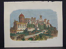 Picturesque America, c.1890 Hand Color #03 Castle Of Penha Da Cintra