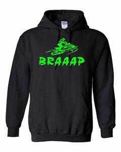 BRAAAP Hoodie Sweatshirt Ski-Doo Arctic Cat Polaris Yamaha neon green To 5X!