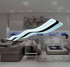 Modern Wave Design Hanging Light Fixture LED Chandelier Kitchen Dining Bedroom