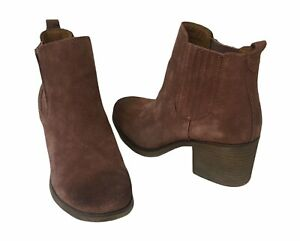Eurosoft Jennica Leather Suede Ankle Boots Bootie Women's Mulberry NEW 8.5 & 9.5