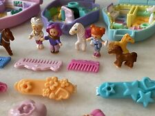 Polly Pocket Bluebird COMPLETE Western Pony Arabian Sisters Pony Sisters Cards