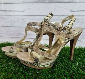Guess size 8 Platform High Heels Snakeskin RRP $159
