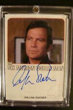 Six Million Dollar Man Autograph Card WILLIAM SHATNER Auto Star Trek DEALER RaRe