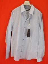 NWT GUCCI TOPAZ PLAID SOFT VICHY COTTON BUTTON SLIM DRESS SHIRT 17.5 44 #307648