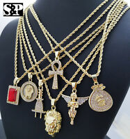 Hip Hop Iced Mini Hot selling 7 pendants Rapper's Collection Necklace Combo Set