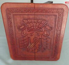 Mayan Aztec Hand Carved Wooden Small Folding Side End Table ?