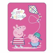 Peppa & George | Fleece Decke | 110 x 140 cm | Peppa Wutz | Peppa Pig