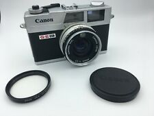 Canon Canonet QL17 G-III 35mm Rangefinder Film Camera, 40mm f/1.7 lens w/ extras