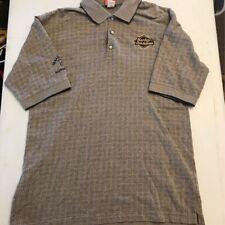Harley-Davidson Mens Activewear Polo Shirt Brown Tattersall Texas Thunder XL