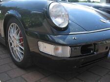 Porsche 964 Blinker Blinkleuchten Set Neu vorne weiß Klarglas + Birnchen Orange