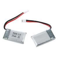 Originale WLtoys V966-016 3,7 V 250 mAh 25C Lipo Batteria 2 pezzi per RC Elic HK