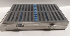 Dental Surgical 10 Instruments Sterilization Cassette Tray Rack Holder Blue -FDA