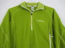 Cloudveil Fleece Jacket Pea Green 1/2 Zip Pullover Polyester WOMENS SMALL