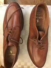 Ralph Lauren Vintage Bench Made English Brown Leather Women's Golf Shoes Size 10