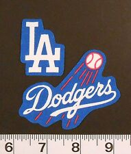 FREE SHIPPING MLB Los Angeles Dodgers Iron On Fabric Applique Patch Logo DIY 2pc