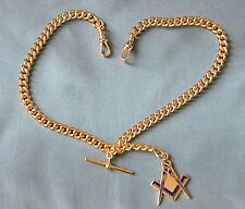 Gold Plated Double Albert Pocket Watch Chain.
