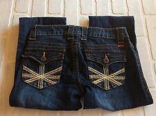 Makers of True Originals Womens Jeans sz 26 embroidery back pocket boot cut