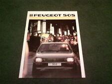 January 1986 PEUGEOT 505 SALOON - GR GRD SR SRD GTi GTDT - UK BROCHURE