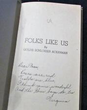 1943 FOLKS LIKE US by Goldie Schlosser Ackerman US Armed Services Poetry Book