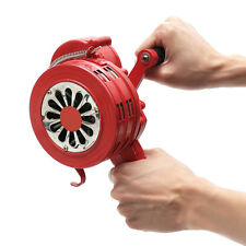 Portable Hand Loud Crank Manual Air Raid Alarm Siren Handheld Operated 110dB