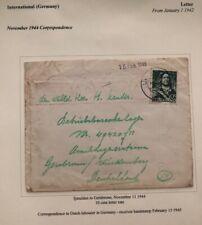 1944 Ijmuiden Netherlands Cover To Gerabronn Dutch Slave Labor Camp Germany