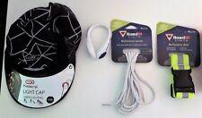 kit sicurezza runner - cappello + clip scarpa + lacci e cintura