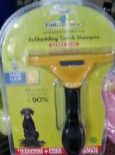 FURminator Fur deShedding Tool 4 Inch - Large w/deshedding shampoo sample