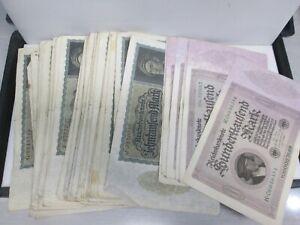 LOT OF 60 1920'S GERMAN PAPER MONEY