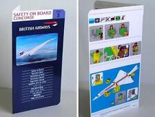 Safety on Board Concorde Issue No 5 Safety Card