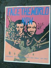 +/ Face The World promo poster-Martin Luther King- 1985 glitter silk screened