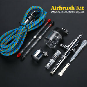 Dual-Action Spray Gun Airbrush with Compressor Airbrush Kit for Model Cake