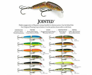 Rapala Jointed // J05 // 5cm 4g Fishing Lures (Various Colors)