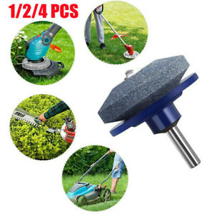 Blade Rotary Lawn Mower Universal Grinding Sharpener Cut Garden Grinder Drill