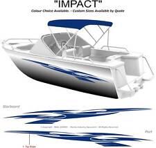 "BOAT GRAPHICS  DECAL STICKER KIT ""IMPACT -1800""  MARINE CAST VINYL"