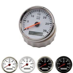 """3 3/8"""" 85mm LCD Digital Tachometer 0-3000RPM Diesel Engine Tacho Meter RPM Gauge"""