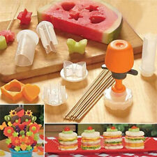 6 Shape Cookie Fruit Vegetable Maker Kitchen Tool Pop Chef Food Decor DIY Mould