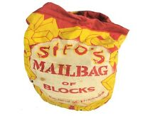 Vintage Sifos Mailbag of Blocks