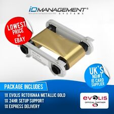 Evolis Metallic Gold Ribbon for Primacy/Zenius Printers • Free UK Delivery