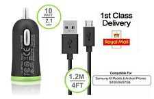 Ultra Fast Car Charger + Cable For Samsung S4/S5/S6/S7  Edge & All Android