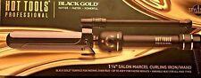 """Hot Tools Black Gold Titanium Micro-Shine Marcel Curling Iron 11/4"""" Dual Voltage"""