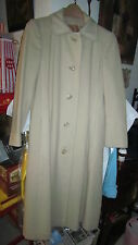 Vintage 1960's Beige Cashmere Lady's Coat by ULTIMA,  Size 6/8 small/ Medium