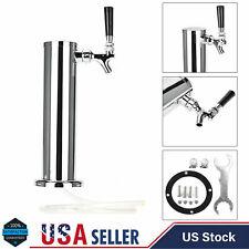 Chromed Stainless Steel 1 Tap Tower Beer Faucet Draft Bar Homebrew for Kegerator