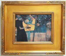 """THE MUSIC""  GUSTAV KLIMT (1895) GICLEE PRINT ON CANVAS~ ART NOUVEAU STYLE FRAME"