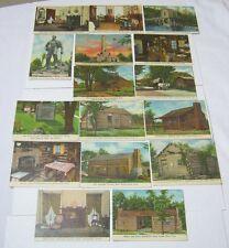 Abraham Lincoln New Salem State Park Vtg. Trading Cards  T*