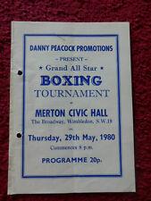 Boxing Programme - Steve Lewin V Boyd Farrar 1980