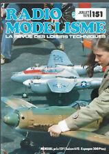 REVUE RADIO MODELISME N°151  1979  VOIR SOMMAIRE   vintage model magazine